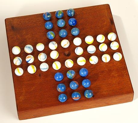 Bastelidee / Solitaire Spiel aus Holz
